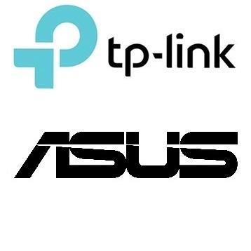 TP Link and Asus logos